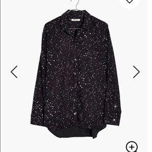 NWT Madewell Oversized Ex-Boyfriend shirt star M